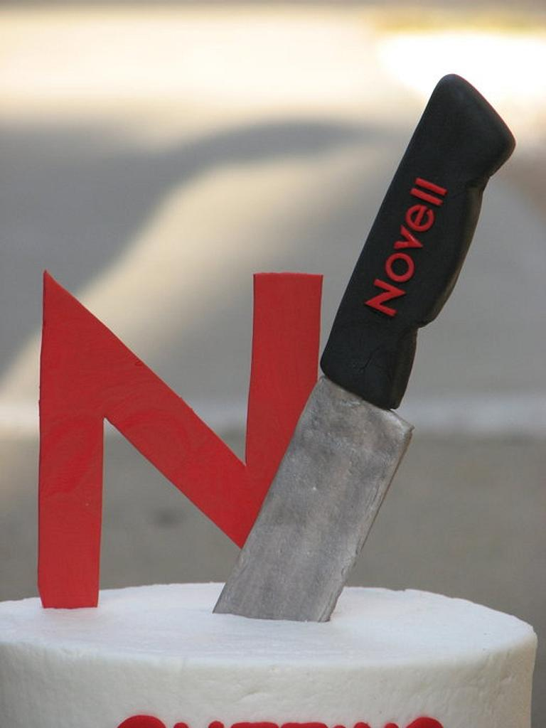 Novell - Cutting Edge of Technology Cake by SarahBeth3