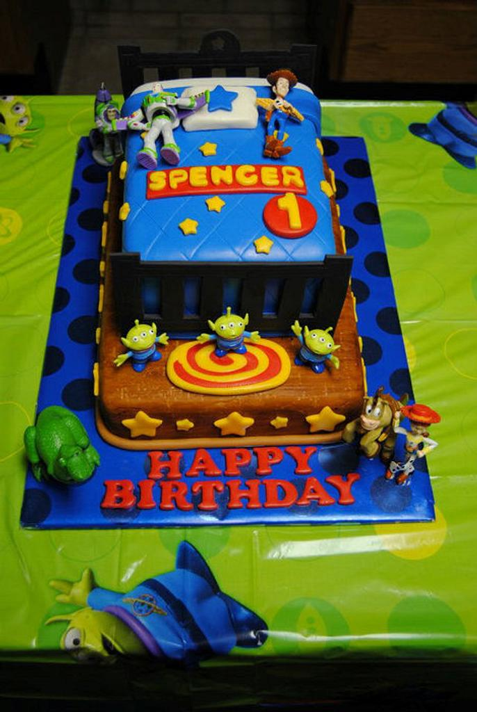 Toy Story Bed Cake by naughtyandnicecakes