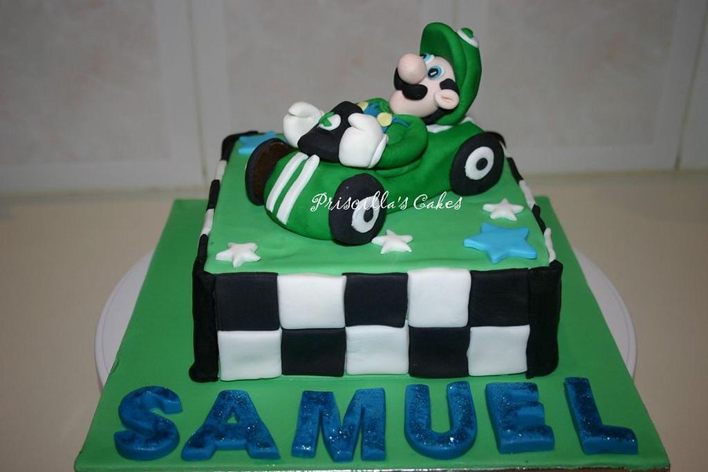 Luigi Cake take 2! by Priscilla's Cakes