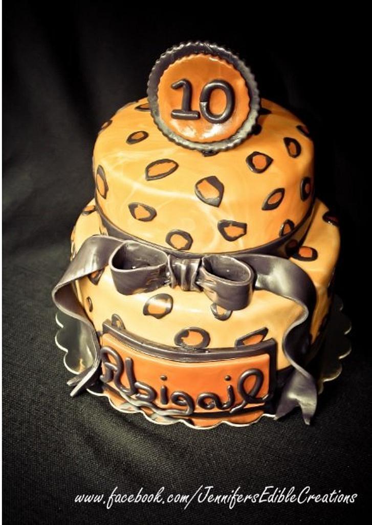 Leopoard Print Cake by Jennifer's Edible Creations