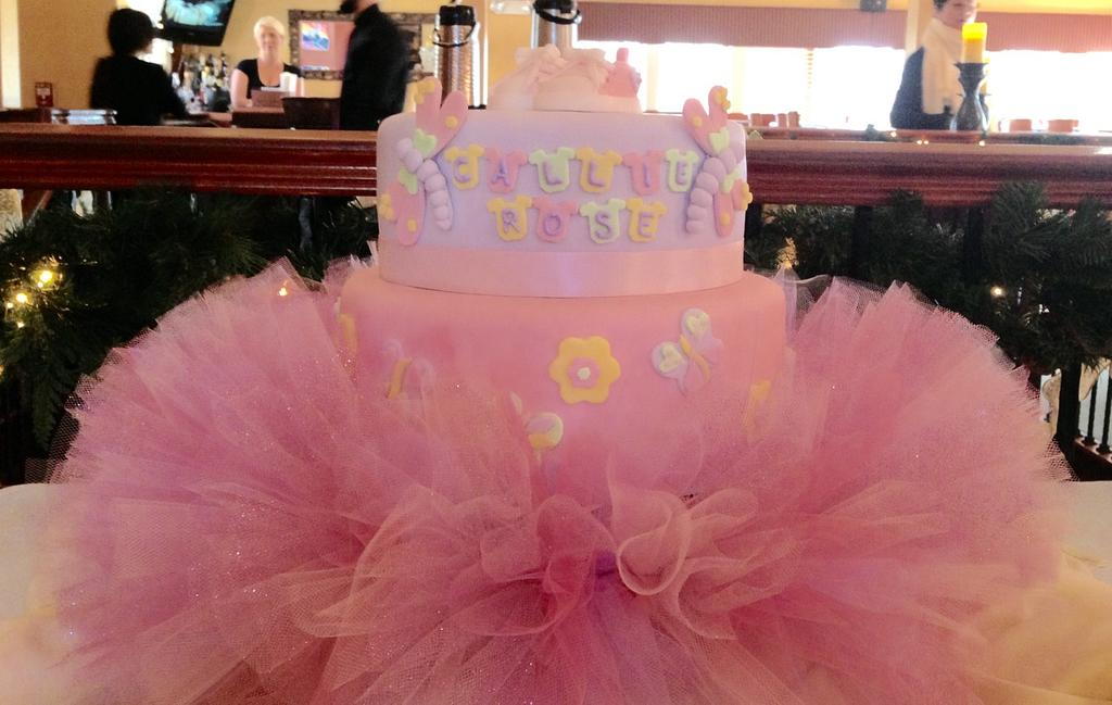 Baby shower tutu cute! by Sugared Tiers
