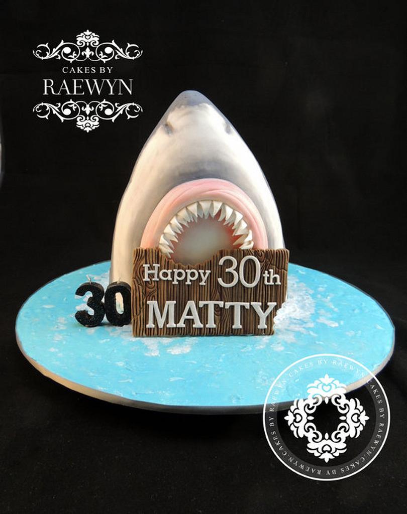My First Shark rawwrr!! by Raewyn Read Cake Design