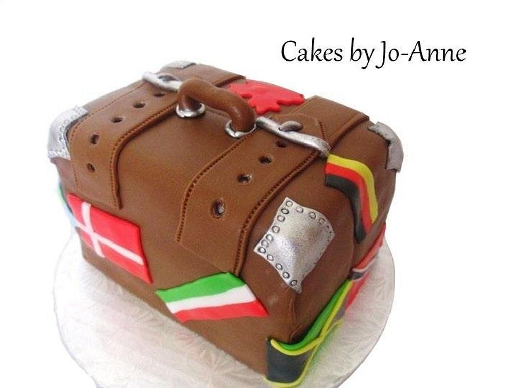 Trip Around the World - Suit Case by Cakes by Jo-Anne