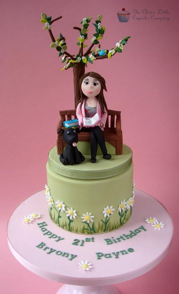 21st Birthday Cake by Amanda's Little Cake Boutique