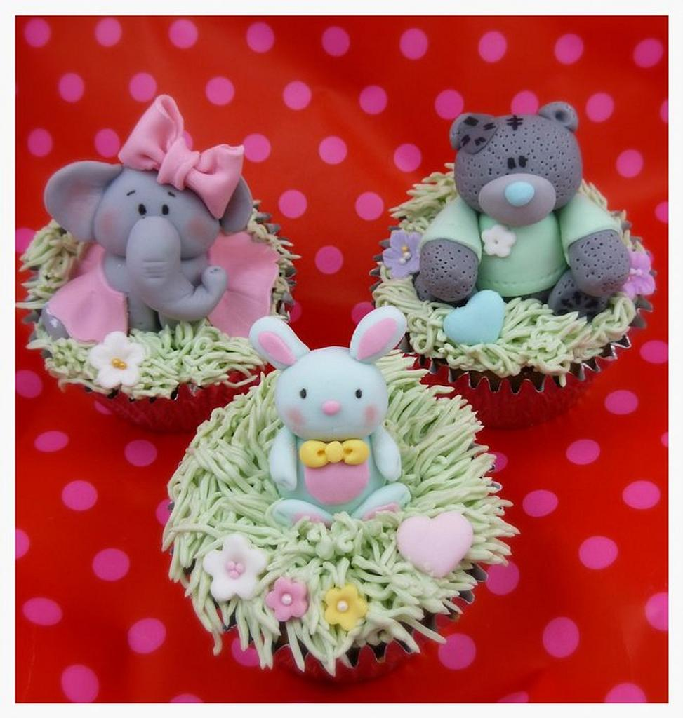 Ballerina elephant, Me to you bear & Cutie bunny cupcakes by S' Delicacy