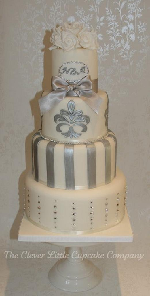 Swarovski Crystal Wedding Cake by Amanda's Little Cake Boutique