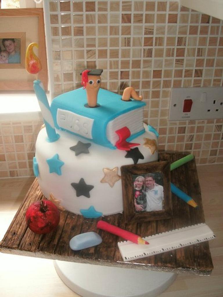My Husband's Graduation Cake by Lisa