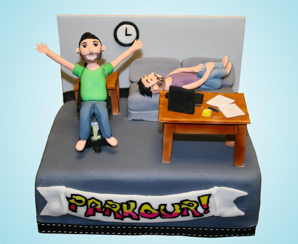 """""""Parkour"""" The Office Cake by Rachel White"""