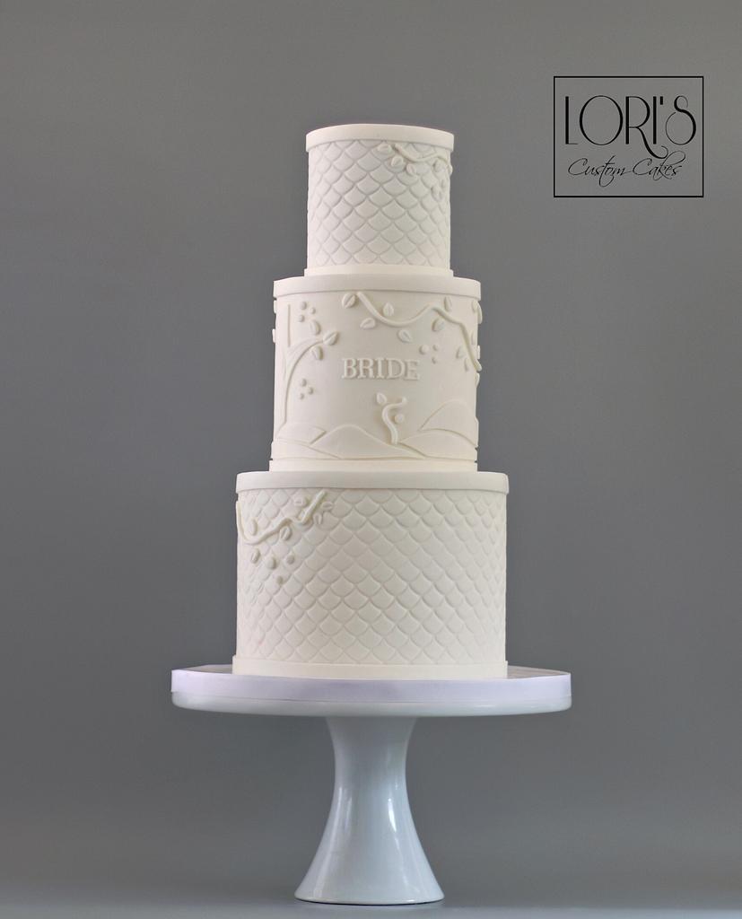 GOT wedding cake just for the bride  by Lori Mahoney (Lori's Custom Cakes)