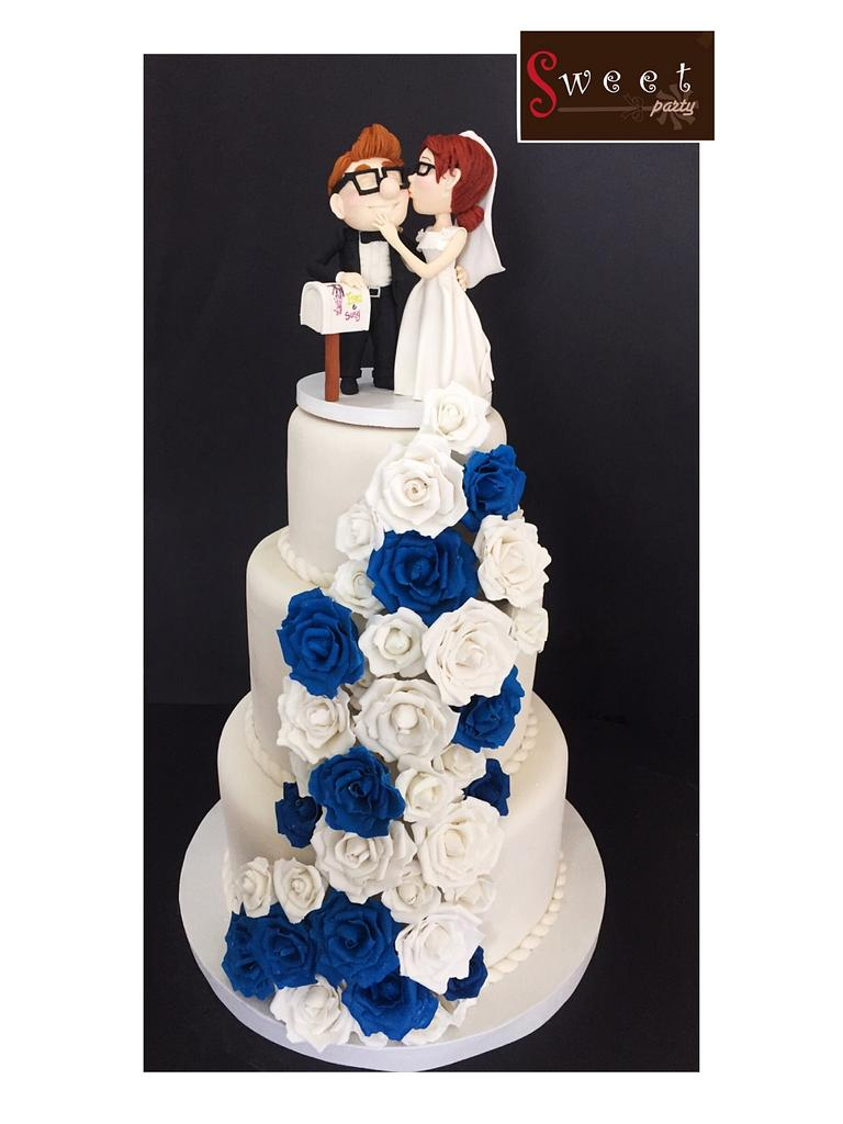 Wedding cake by  Vale Logroño