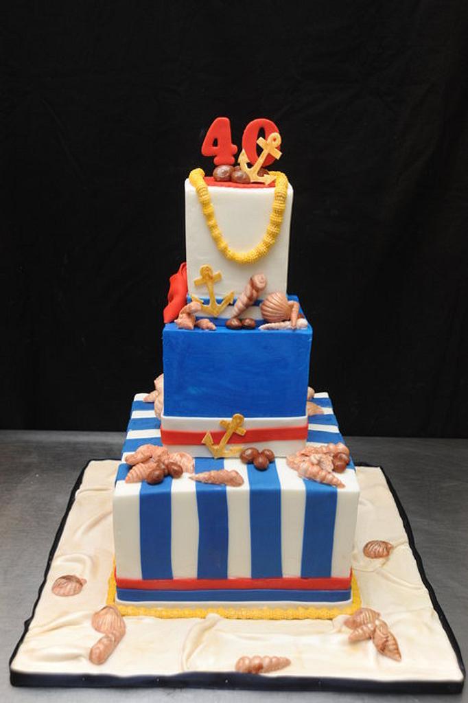 Nautical Theme Cake by Sugarpixy