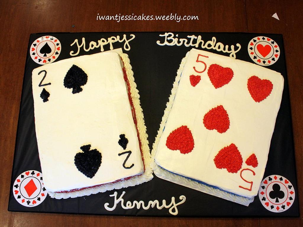 Poker themed birthday cake & treats by Jessica Chase Avila