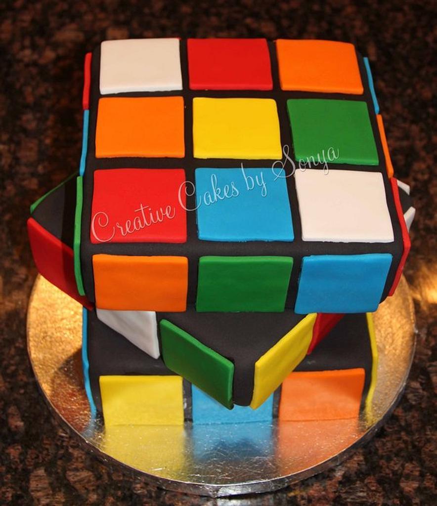 Rubik's Cube Cake by Sonya