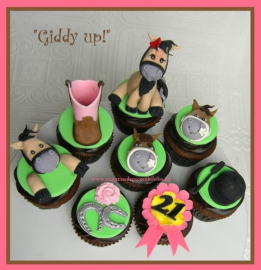 Giddy Up   Horse themed cupcakes   Cake by   CakesDecor