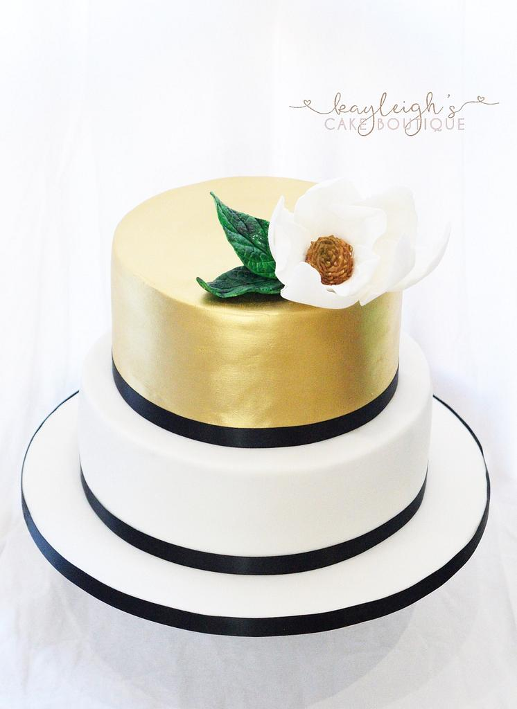 Gold wedding cake  by Kayleigh's cake boutique