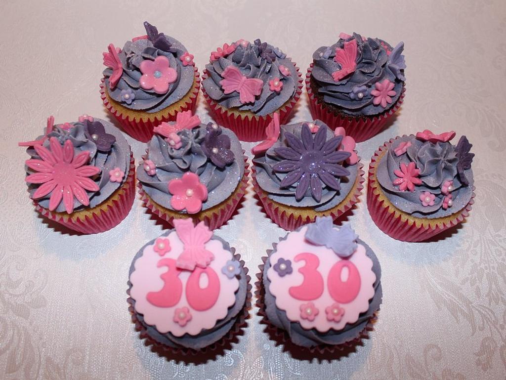 30th Cupcakes by ClarasYummyCupcakes