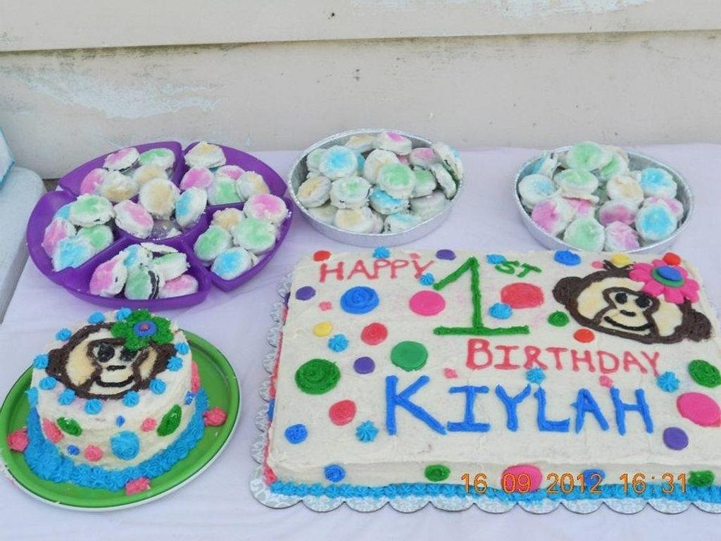 My daughters 1st birthday cake I made by Kilee