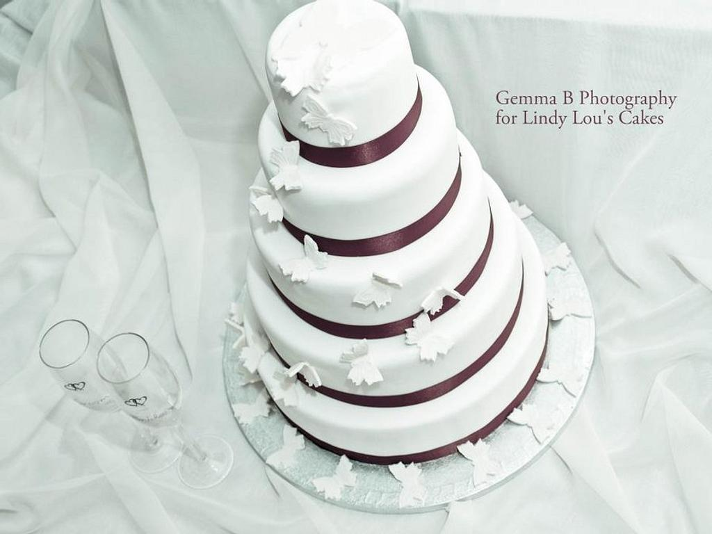 Butterfly Wedding Cake by LindyLou
