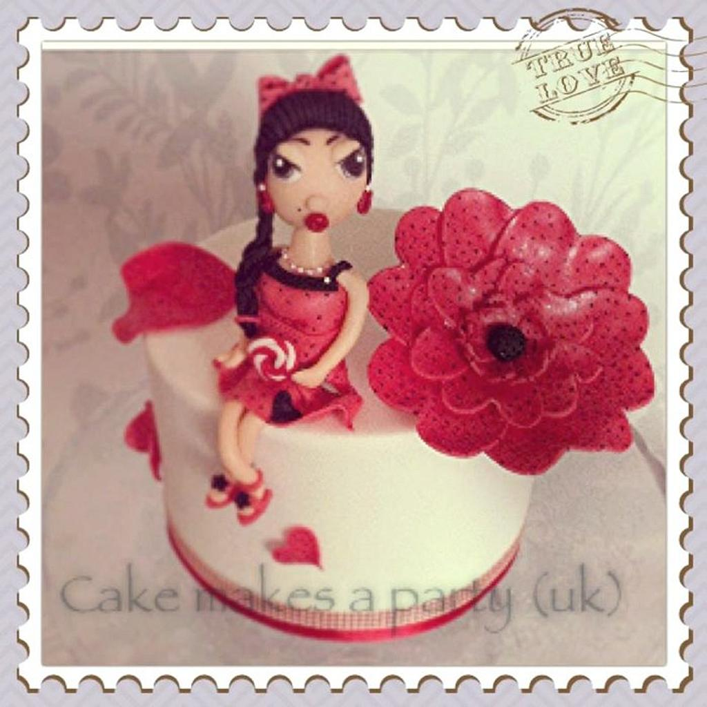 50s Pin up girl with fantasy flower by Mandy