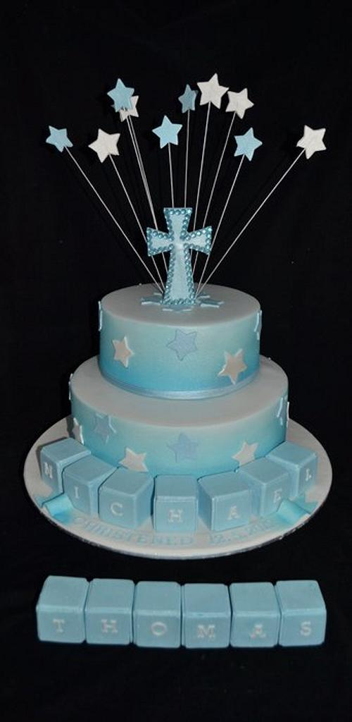 christening cake by Sue Ghabach