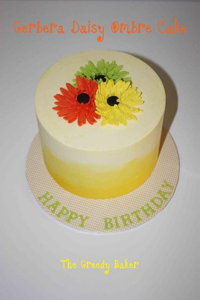 Gerbera Cake by Kate