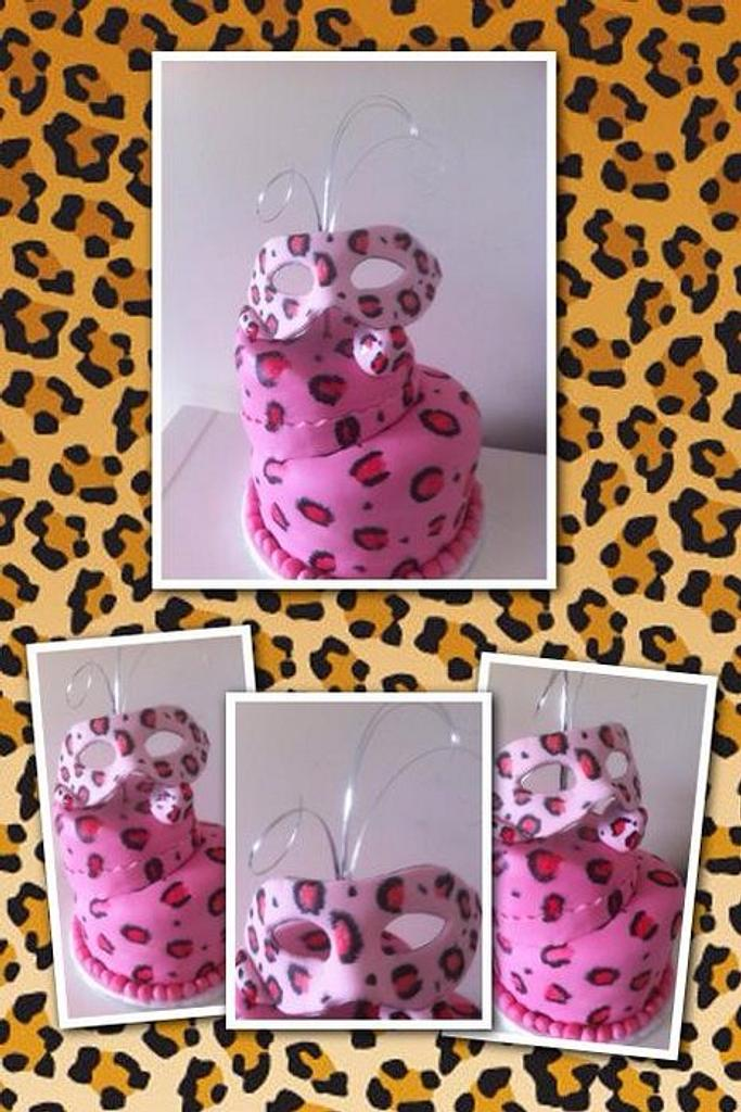 leopard print cake by Witty Cakes