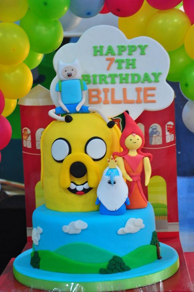 Adventure Time Cake  by myballoonroom