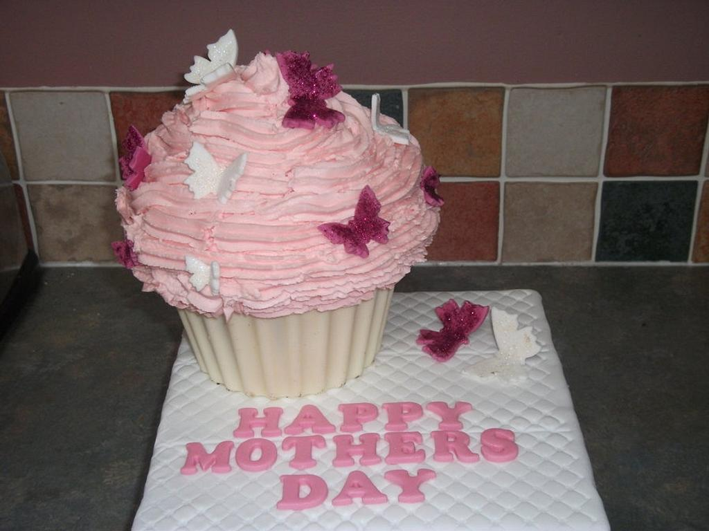 Mothers Day Giant Cupcake by Debbie Sanderson
