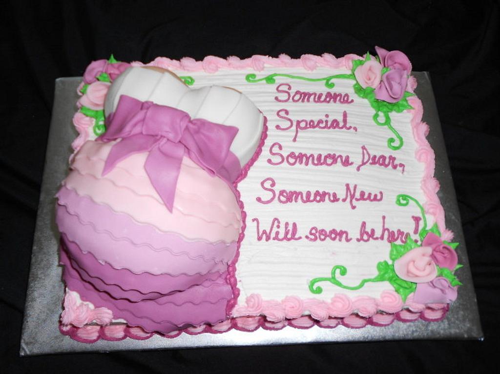 Baby Bump Cake by caymancake