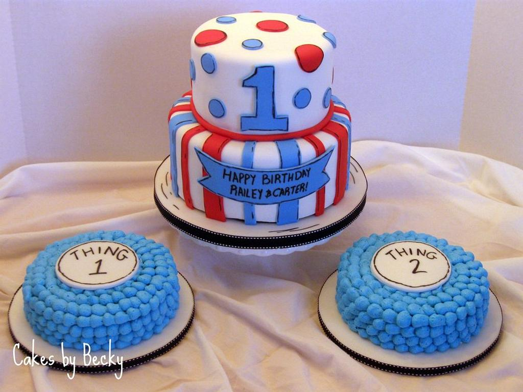 Seuss Themed First Birthday for Twins! by Becky Pendergraft
