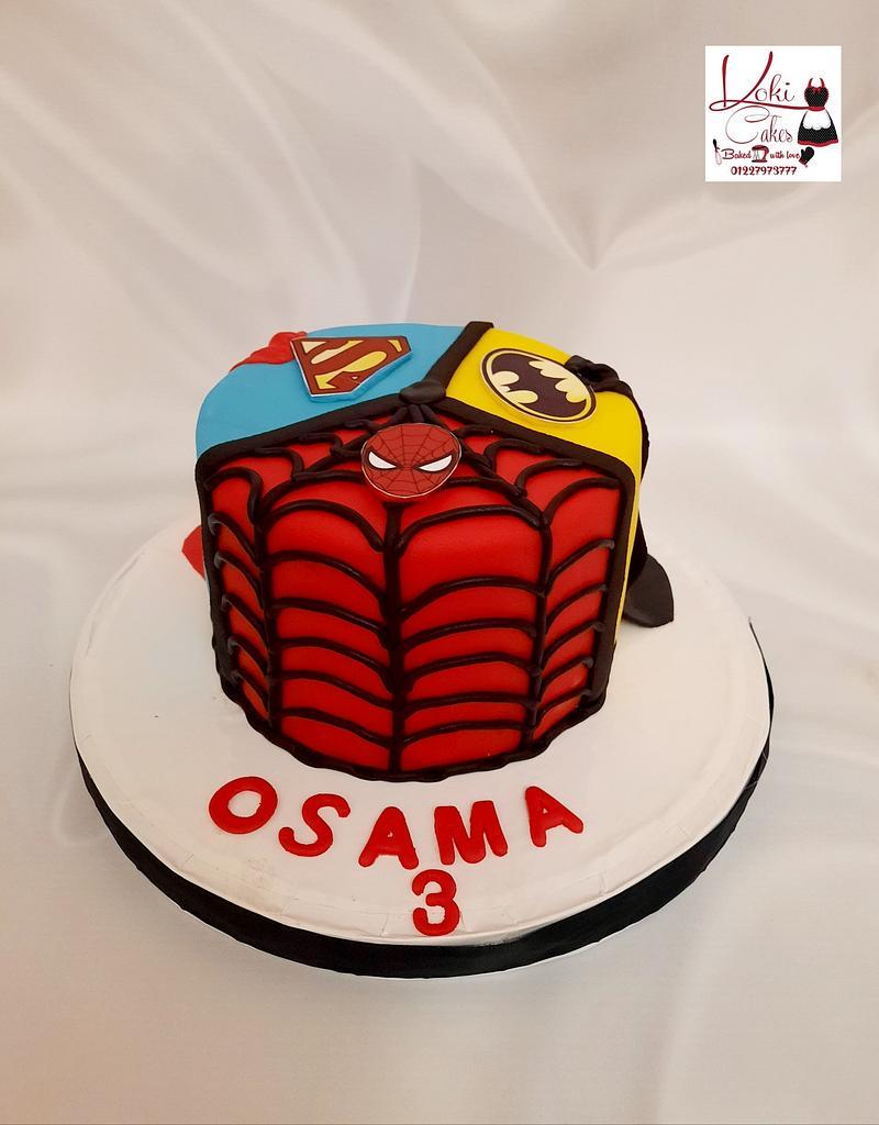 """""""Super Heroes cake"""" by Noha Sami"""