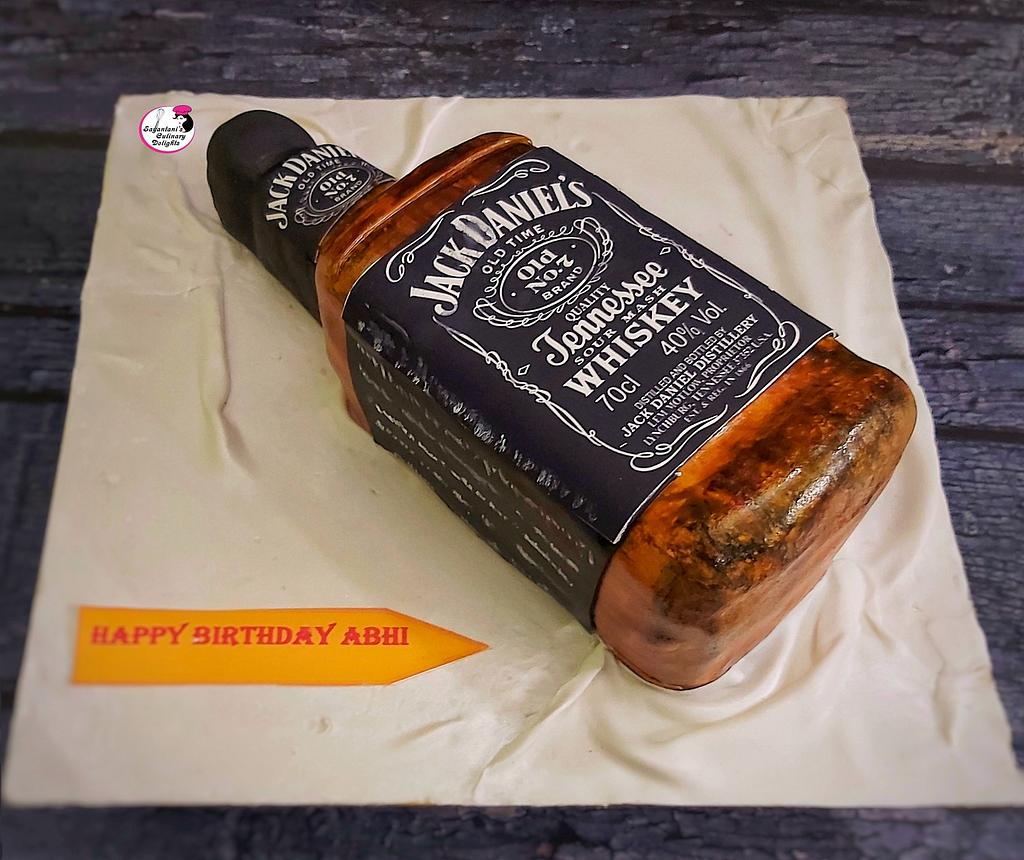 Jack Daniels Bottle Cake by Sayantanis Culinary Delight
