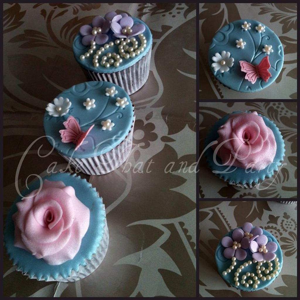 shabby chic cupcakes by yvonne