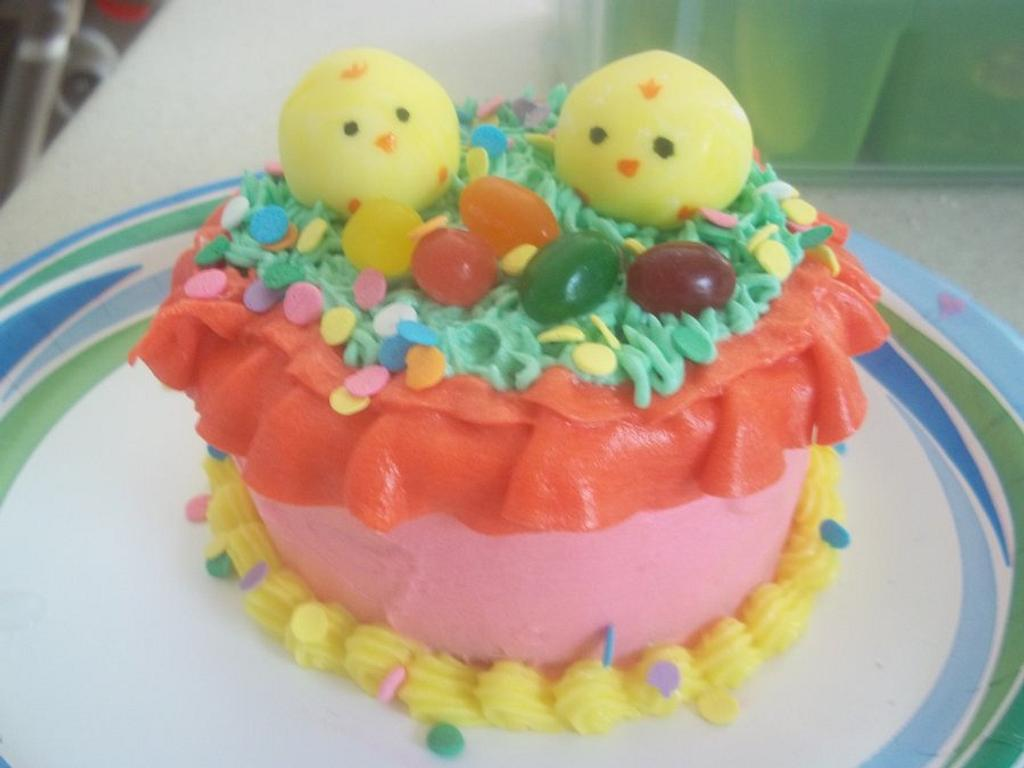easter chicks by cakes by khandra