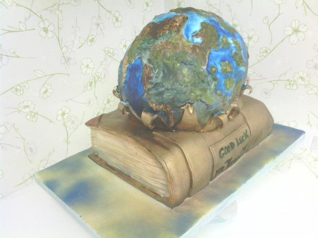 Geography cake by Susie