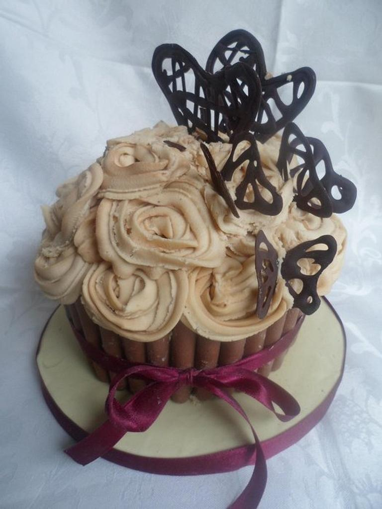 Coffee Giant Cupcake by Rebecca Kenny