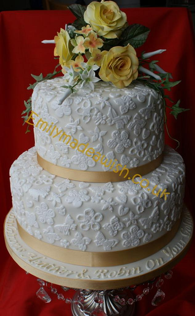 Golden Wedding Anniversary Cake by Sarah Russell