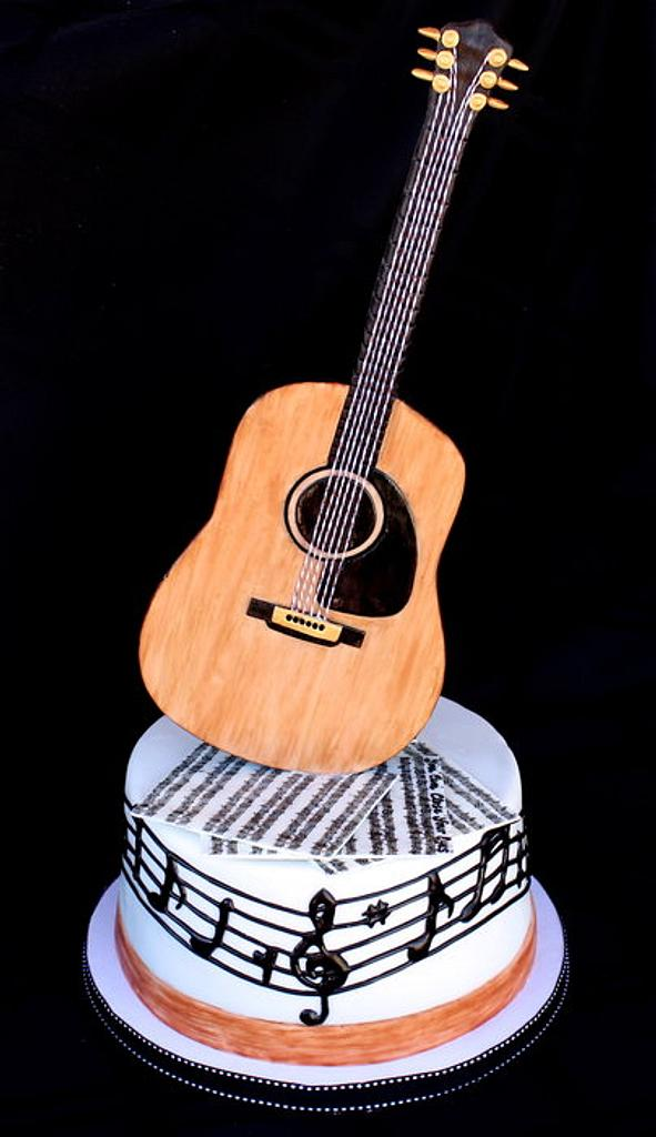 Guitar Cake by Cuteology Cakes