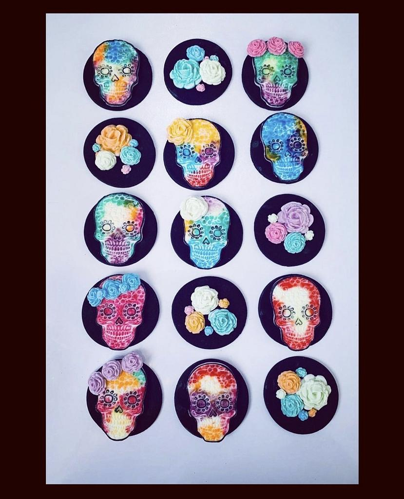 Day of the Dead Cupcake Toppers by Sugar by Rachel