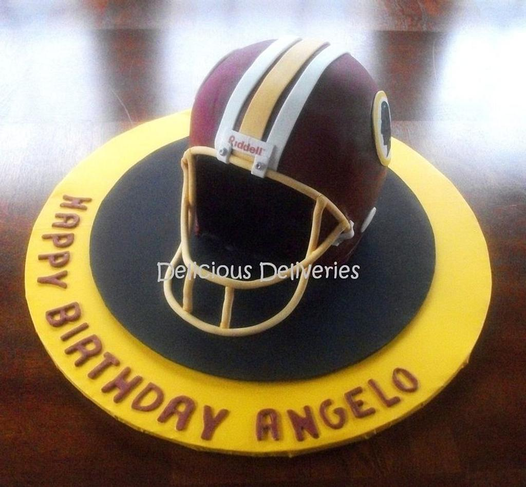 Redskins Football Helmet by DeliciousDeliveries