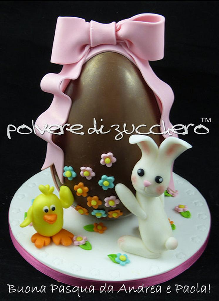 Easter chocolate egg decorated by Paola