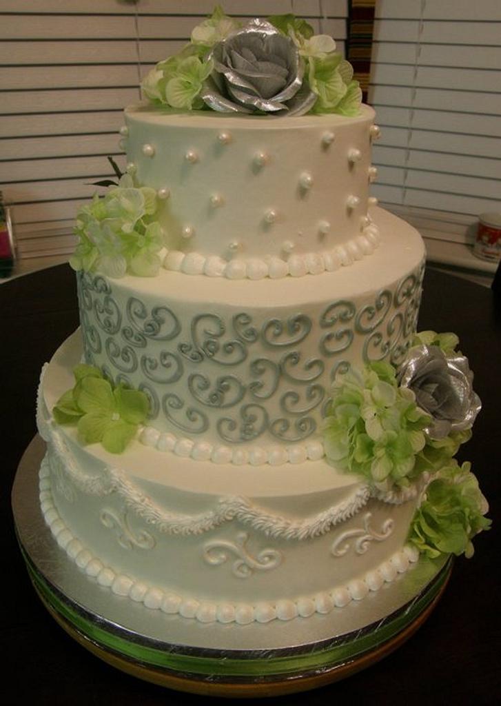 My 10th Wedding Anniversary Cake by lanett