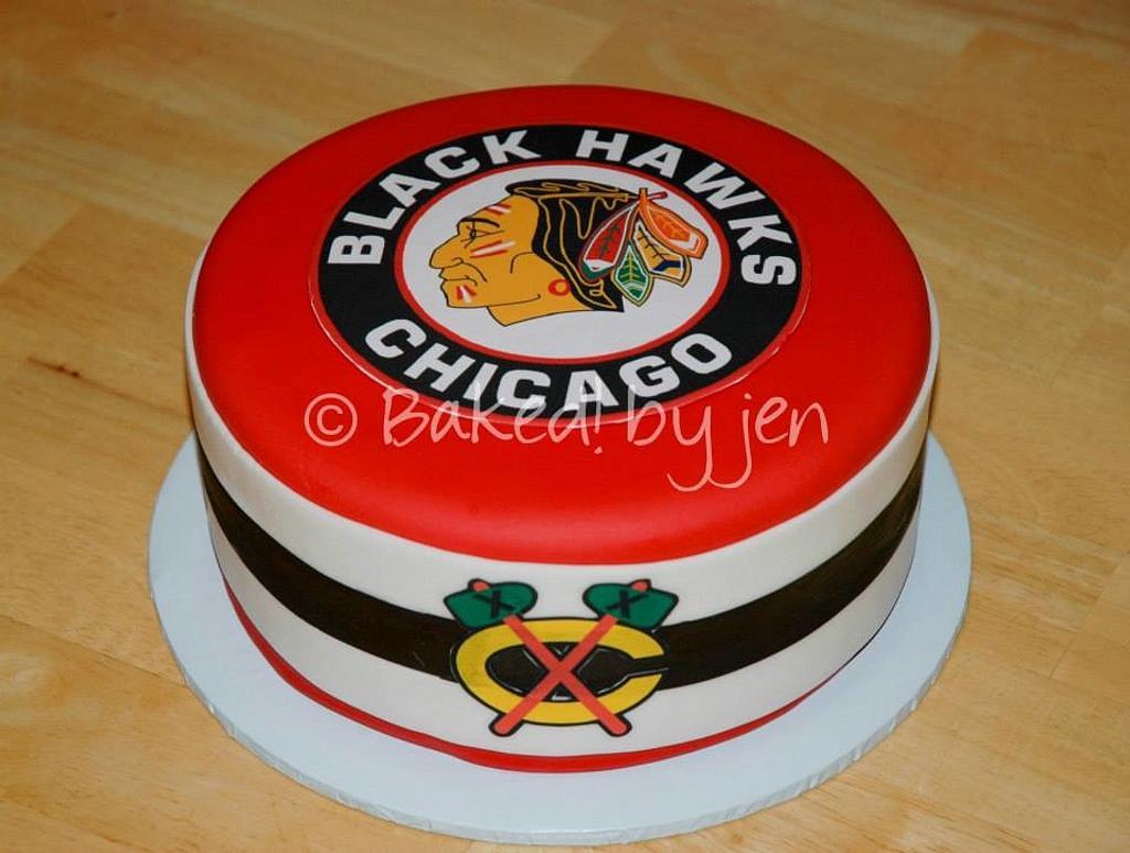 Chicago Blackhawks Birthday Cake by Jen