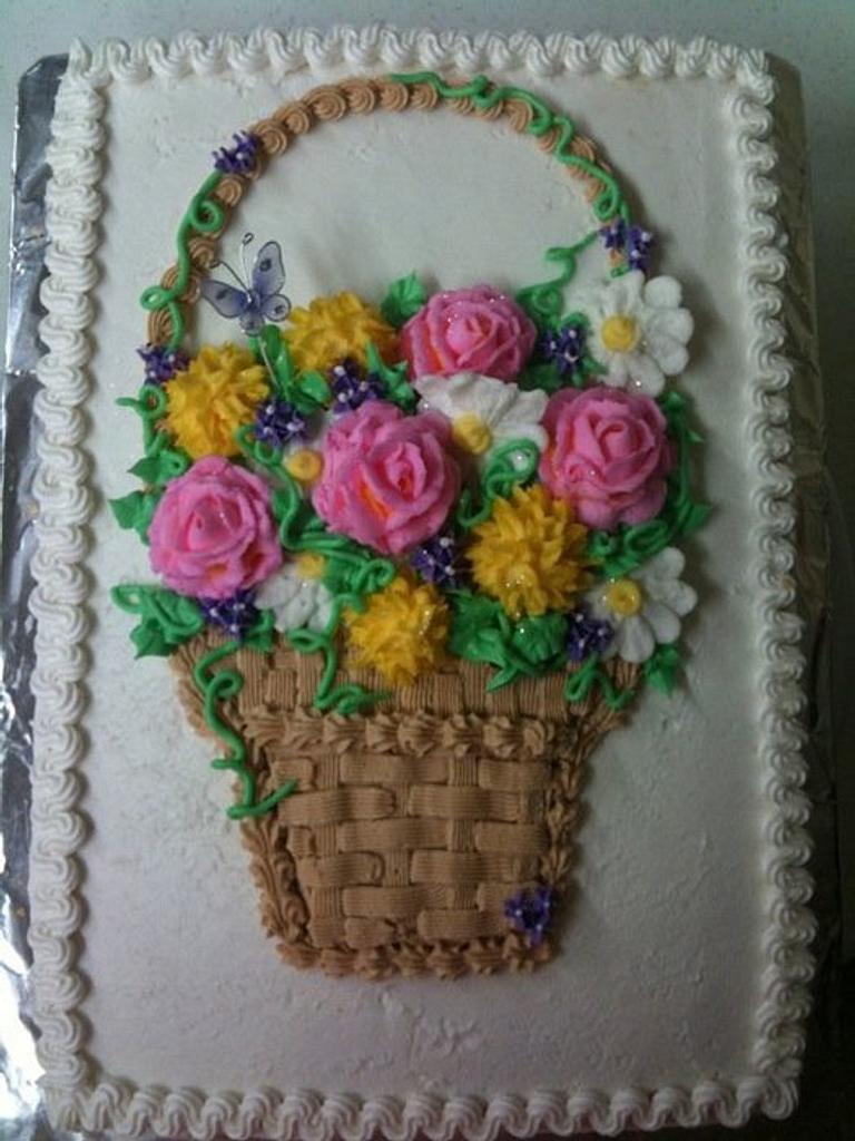 Spring flower basket by Sarah F
