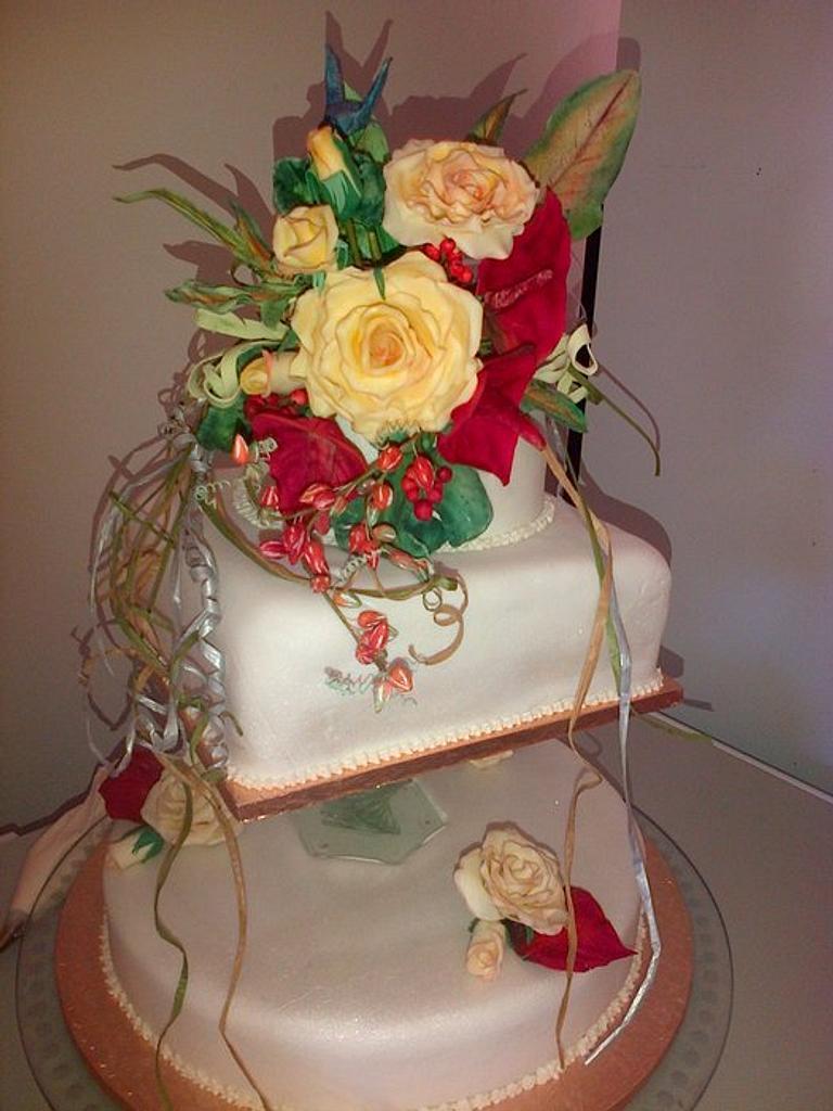 Donna's Hummingbird Wedding cake by Maggie Visser