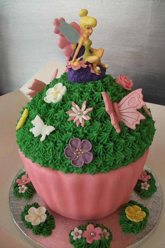 Tinkerbell Giant Cupcake by Lyndsey Statham