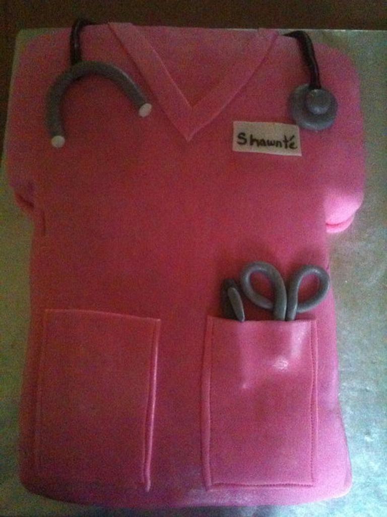 nurse scrub cake by tasteeconfections
