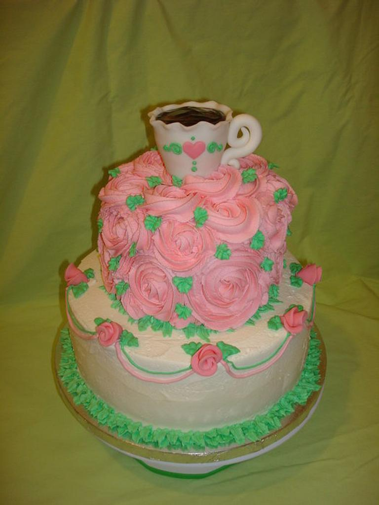 Tea and Roses Cake by Nessa Dixon