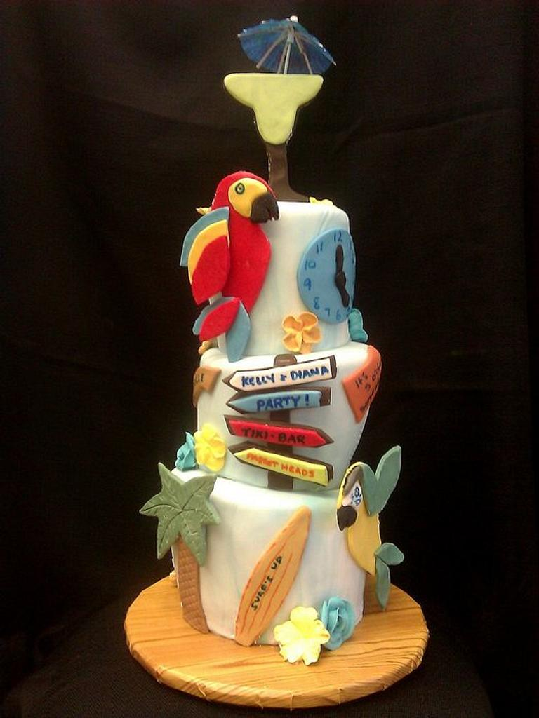 Jimmy Buffet Margaritaville  Parrothead cake by cheryl arme