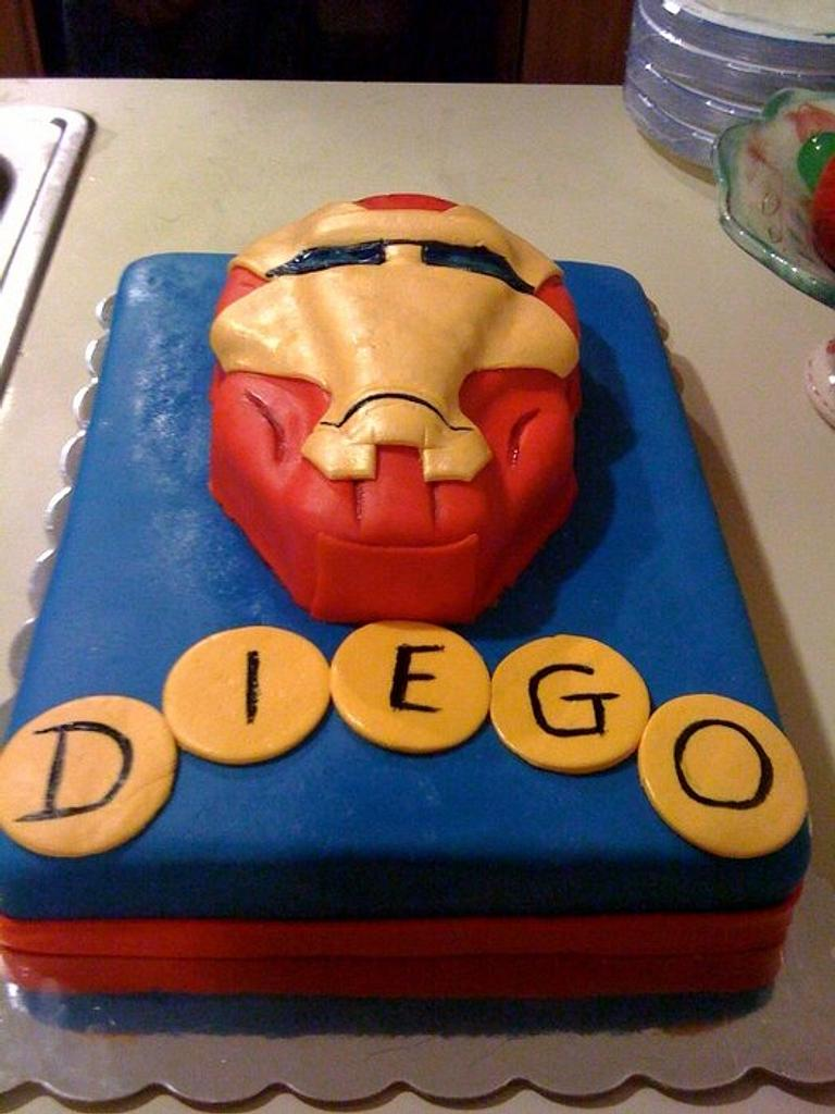 Iron Man Cake by NumNumSweets